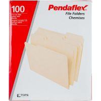 Pendaflex Basic File Folders Letter Size 100/Pkg NOTM314770
