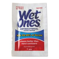 Wet Ones Antibacterial Moist Towelettes, 5 x 7 1/2, White, 1-Ply, 240 Wipes/Carton PLX4723