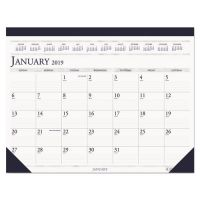 House of Doolittle Recycled Two-Color Monthly Desk Pad Calendar, 18 1/2 x 13, 2019 HOD1506