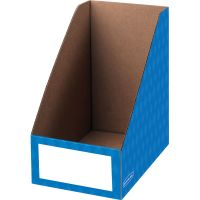 "Fellowes Bankers Box 8"" Magazine File Holders - Blue - 3/Pack FEL3380901"