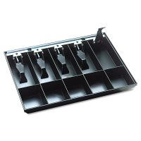SteelMaster Cash Drawer Replacement Tray, Black MMF225286204