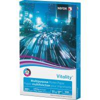 Xerox Vitality Multipurpose Printer Paper, 92 Brightness, 20 lb, 11 x 17, White, 500 Sheets/Ream XER3R03761
