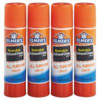 Elmer's Washable All Purpose School Glue Sticks, 4/Pack EPIE542