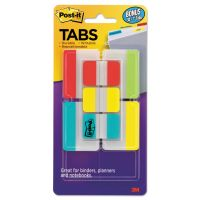 "Post-it Tabs Tabs Value Pack, 1"" and 2"", Aqua/Lime/Red/Yellow, 114/PK MMM686VAD2"