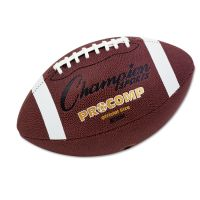 """Champion Sports Pro Composite Football, Official Size, 22"""", Brown CSICF100"""