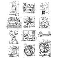 "Tim Holtz Cling Rubber Stamp Set 7""X8.5"" NOTM036452"