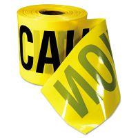 "Empire Caution Barricade Tape, ""Caution Cuidado"" Text, 3""x200ft, Yellow w/Black Print EML770201"