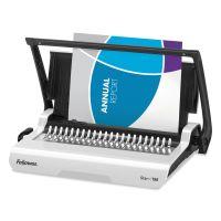 Fellowes Star+ 150 Manual Comb Binding Machine, 17 11/16 x 9 13/16 x 3 1/8, White FEL5006501
