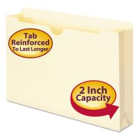 "Smead Manila File Jackets, 2-Ply Top, 2"" Exp, Legal, 11 Point, Manila, 50/Box SMD76560"