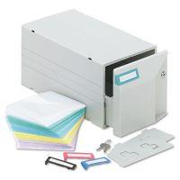 Innovera CD/DVD Storage Drawer, Holds 150 Discs, Light Gray IVR39501