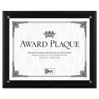 DAX Award Plaque, Wood/Acrylic Frame, Up to 8 1/2 x 11, Black DAXN15908NT