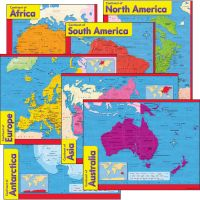 Continents Learning Charts Combo Pack TEP38930