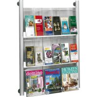 Safco Luxe 9 Pocket Magazine Wall Rack SAF4134SL