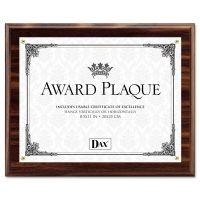 DAX Award Plaque, Wood/Acrylic Frame, Up to 8 1/2 x 11, Walnut DAXN15818T