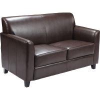 Flash Furniture HERCULES Diplomat Series Brown Leather Loveseat FHFBT8272BNGG