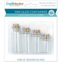 Mini Glass Containers W/Cork Lids 4/Pkg NOTM204782