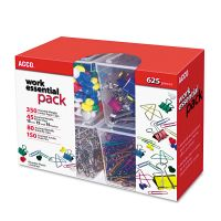 ACCO Club Clip Pack, 80 Ideal, 45 Binder, 350 Jumbo Paper Clips, 150 Push Pins ACC76233