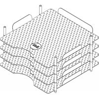 Stackable Acrylic Paper Trays Retail Packaged 4/Pkg NOTM359305