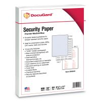 DocuGard Premier Medical Security Paper, Blue, 10 Features, 8 1/2 x 11, 500/Ream PRB04543