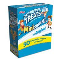 Kellogg's Rice Krispies Treats, Mini Squares, 0.39 oz, 50/Box KEB12061