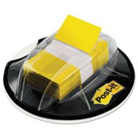 Post-it Flags Page Flags in Desk Grip Dispenser, 1 x 1 3/4, Yellow, 200/Dispenser MMM680HVYW
