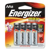Energizer MAX Alkaline Batteries, AA, 8 Batteries/Pack EVEE91MP8