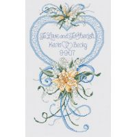 Janlynn Cherish Wedding Heart Counted Cross Stitch Kit NOTM378545