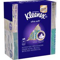 Kleenex Ultra Soft Facial Tissue, 3-Ply, White, 8.75 x 4.5, 75/Box, 4 Box/Pack KCC25830