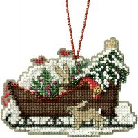 Woodland Sleigh Counted Cross Stitch Kit NOTM052786