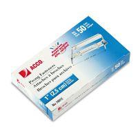 """ACCO Premium Two-Piece Paper File Fasteners, 1"""" Capacity, 2 3/4"""" Center, 50/Box ACC70012"""