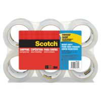"Scotch 3850 Heavy-Duty Tape Refills, 1.88"" x 54.6yds, 3"" Core, Clear, 6/Pack MMM38506"