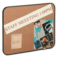 Post-it Sticky Self-Stick Cork Board, 22 x 18, Natural, Black Frame MMM558BBS