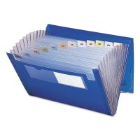 Smead Expanding File, 12 Pockets, Letter, Blue/Clear SMD70876