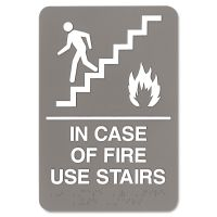 "Headline Sign ""In Case of Fire Use Stairs"" Sign  USS5400"