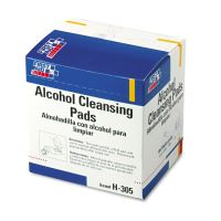 First Aid Only Alcohol Cleansing Pads, Dispenser Box, 100/Box FAOH305
