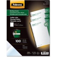 Fellowes Crystals Presentation Covers with Square Corners, 11 x 8 1/2, Clear, 100/Pack FEL52089