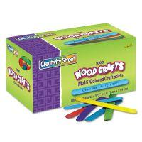 Chenille Kraft Colored Wood Craft Sticks, 4 1/2 x 3/8, Wood, Assorted, 1000/Box CKC377502