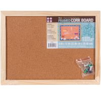 "Framed Cork Memo Board 9""X12"" NOTM448127"
