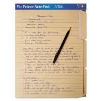 find It FindIt File Folders Notepad, 1/3 Cut, 11 Pt Stock, Letter, Manila IDEFT07210