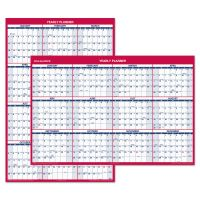 AT-A-GLANCE Erasable Vertical/Horizontal Wall Planner, 32 x 48, Blue/Red, 2019 AAGPM32628