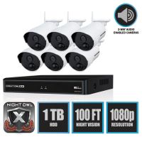 Night Owl 8 Channel 1080p Wireless Smart Security Hub, 3MP Resolution NGTWNVR20188PB