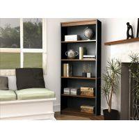 Bestar Innova Bookcase in Tuscany Brown & Black BESBES927003163