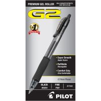 Pilot G2 Premium Retractable Gel Ink Pen, Refillable, Black Ink, .7mm, Dozen PIL31020