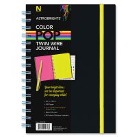 Astrobrights Twin Wire Journal with Black Soft-touch Cover NEE99728