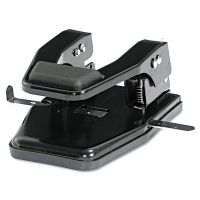 """Master 40-Sheet Heavy-Duty Two-Hole Punch, 9/32"""" Holes, Padded Handle, Black MATMP250"""