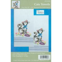 "Stamped Kitchen Towels For Embroidery 20""X28"" 2/Pkg NOTM371310"