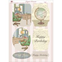 "3D Die-Cut Decoupage Sheet 8.3""X11.69"" NOTM321381"