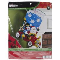 Holiday Drive Stocking Felt Applique Kit NOTM382574