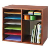 Safco Fiberboard Literature Sorter, 12 Sections, 19 5/8 x 11 7/8 x 16 1/8, Cherry SAF9420CY