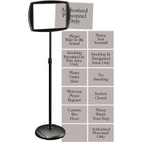 MasterVision Interchangeable 2-Sided Floor Pedestal Sign BVCSIG05050505